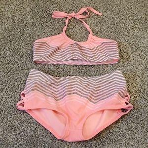 Girl's high waisted bikini